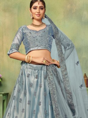 Grey Embroidered Reception Designer Lehenga Choli