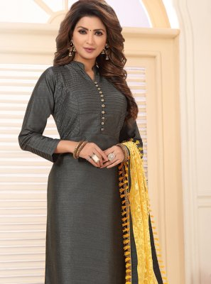 Grey Embroidered Salwar Kameez