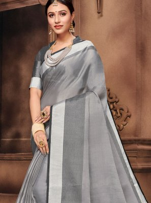 Grey Fancy Saree