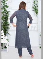 Grey Georgette Festival Salwar Suit