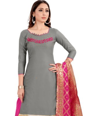 Grey Handwork Salwar Suit