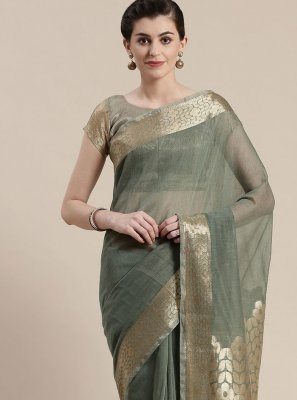 Grey Party Designer Saree
