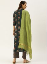 Grey Party Rayon Straight Salwar Suit