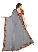Grey Rangoli Contemporary Saree