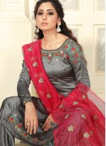 Grey Reception Salwar Suit