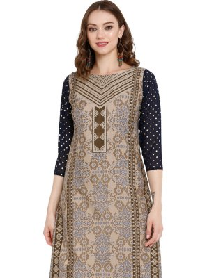 Grey Sangeet Party Wear Kurti