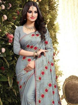 Grey Silk Classic Saree