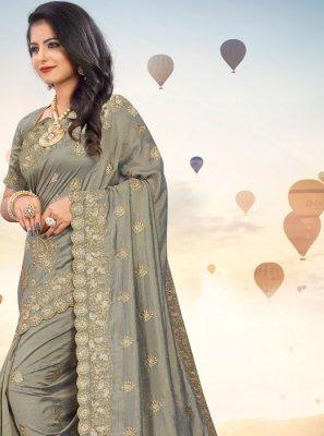 Grey Silk Festival Classic Saree