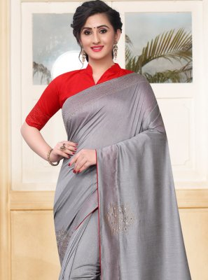 Grey Stone Traditional Saree
