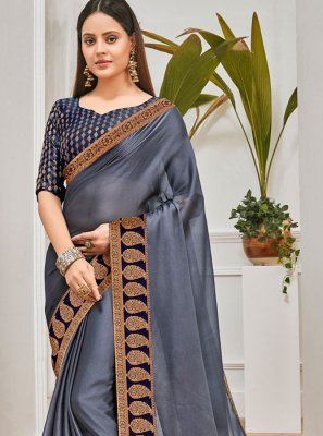 Grey Trendy Saree