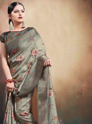Grey Wedding Classic Designer Saree