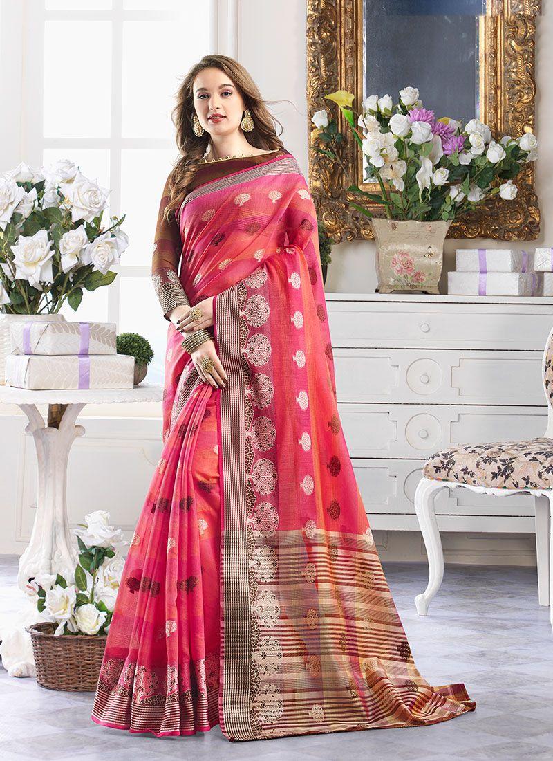 Handloom Cotton Classic Designer Saree
