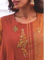 Handloom Cotton Embroidered Casual Kurti