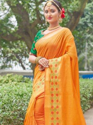 Handloom silk Festival Designer Saree