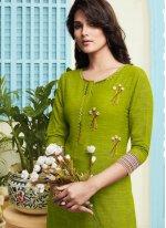 Handloom silk Party Salwar Suit