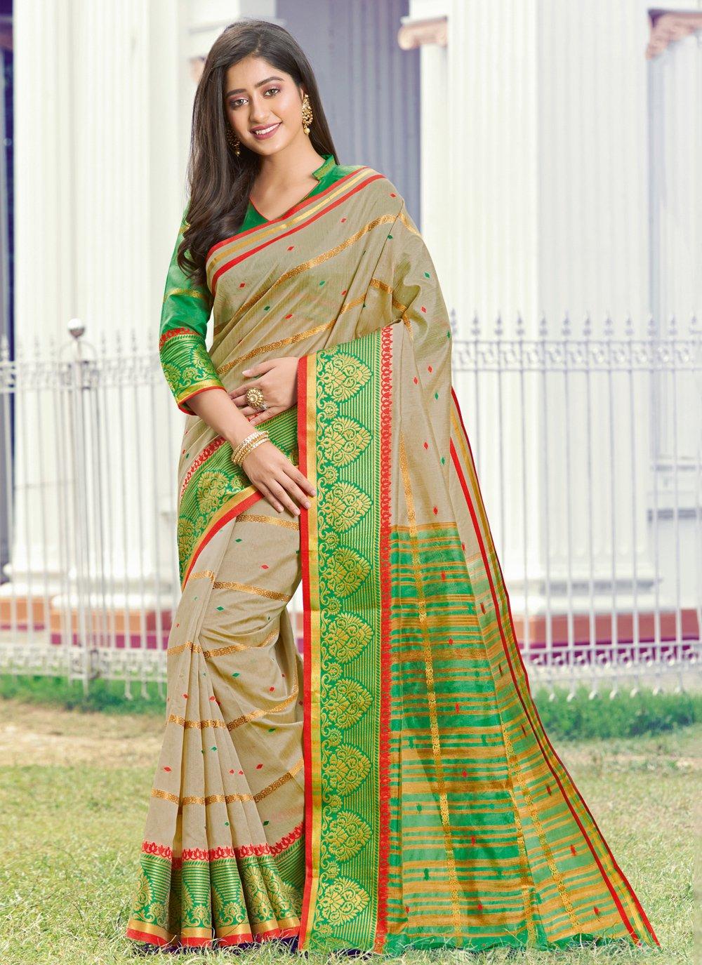Handloom silk Party Trendy Saree
