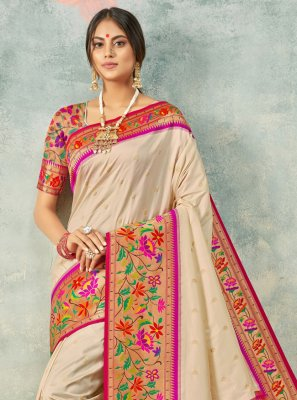 Handloom silk Weaving Bollywood Saree