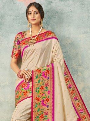 Handloom silk Weaving Bollywood Saree