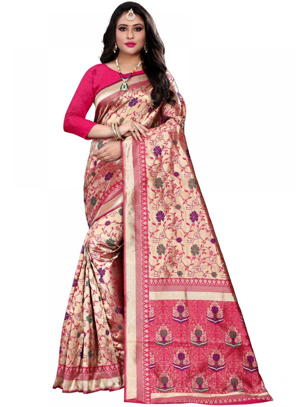 Hot Pink Classic Designer Saree