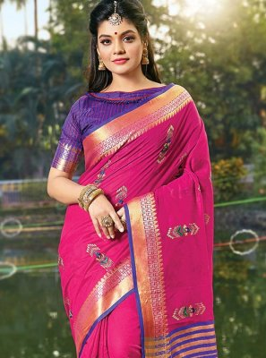 Hot Pink Classic Saree