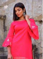 Hot Pink Color Designer Kurti