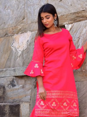Hot Pink Color Designer Kurti