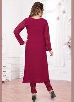 Hot Pink Color Salwar Suit