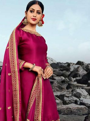 Hot Pink Georgette Salwar Suit