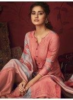 Hot Pink Printed Designer Palazzo Salwar Kameez