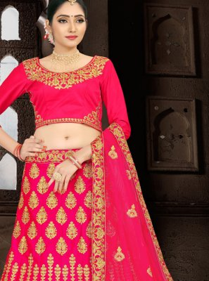 Hot Pink Zari Wedding Lehenga Choli