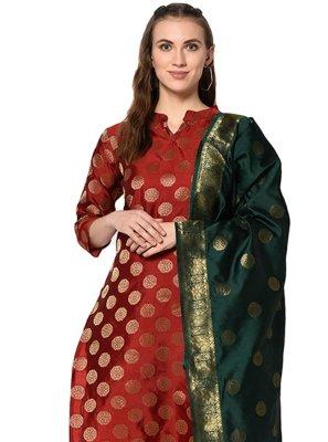 Jacquard Abstract Print Salwar Suit