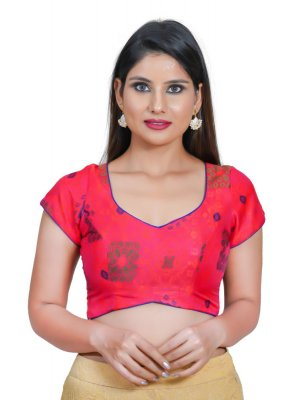 Jacquard Blouse in Pink