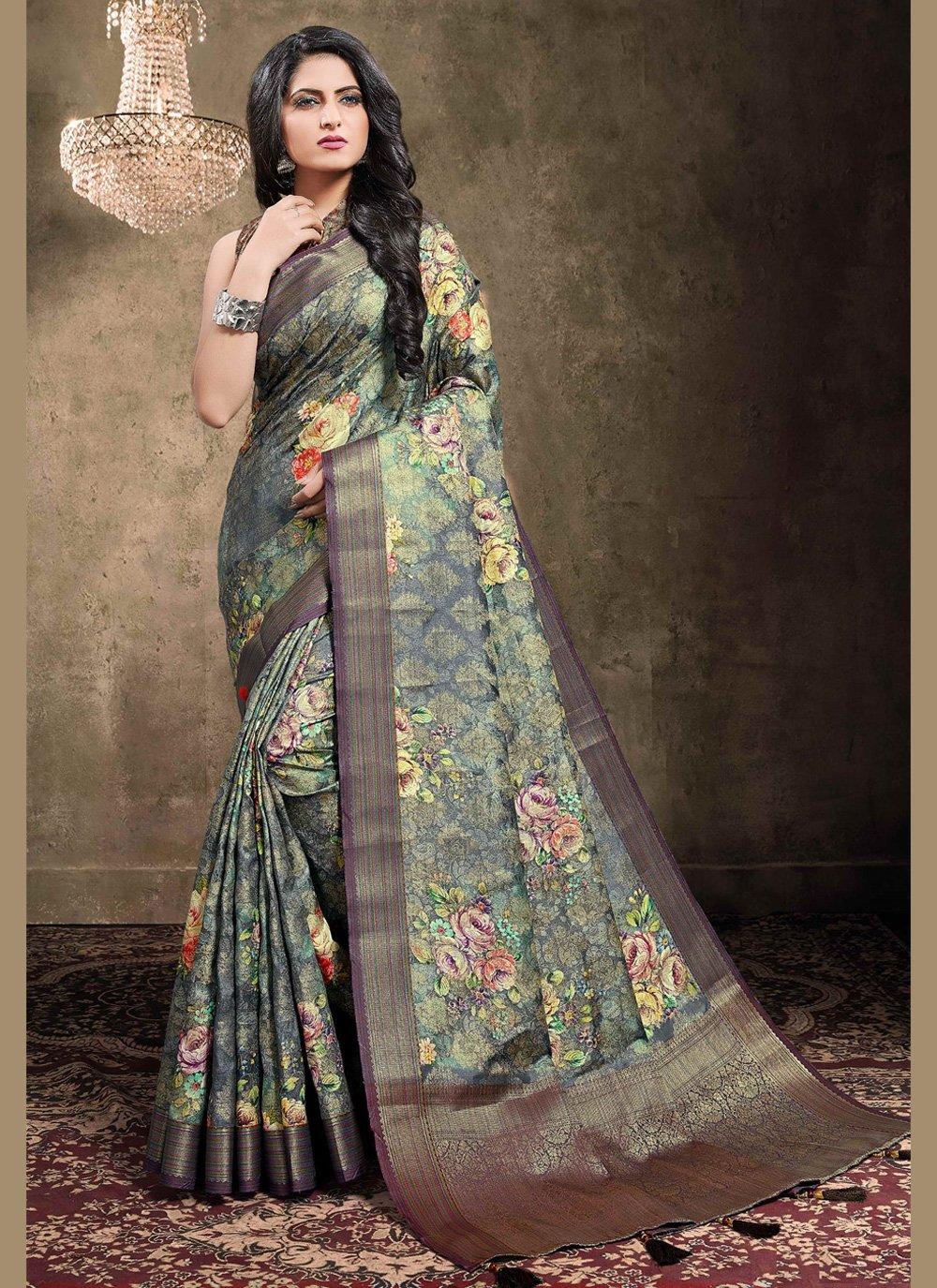 Jacquard Ceremonial Traditional Designer Saree