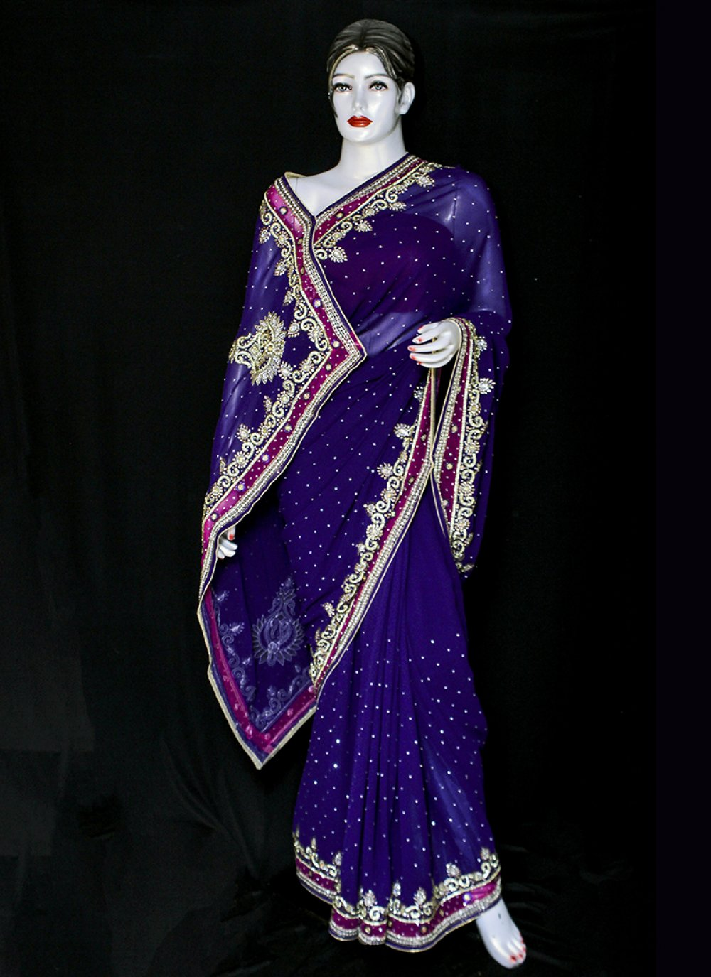 Jacquard Designer Saree in Blue