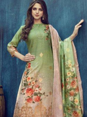 Jacquard Digital Print Designer Salwar Suit