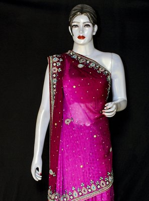 Jacquard Embroidered Designer Saree
