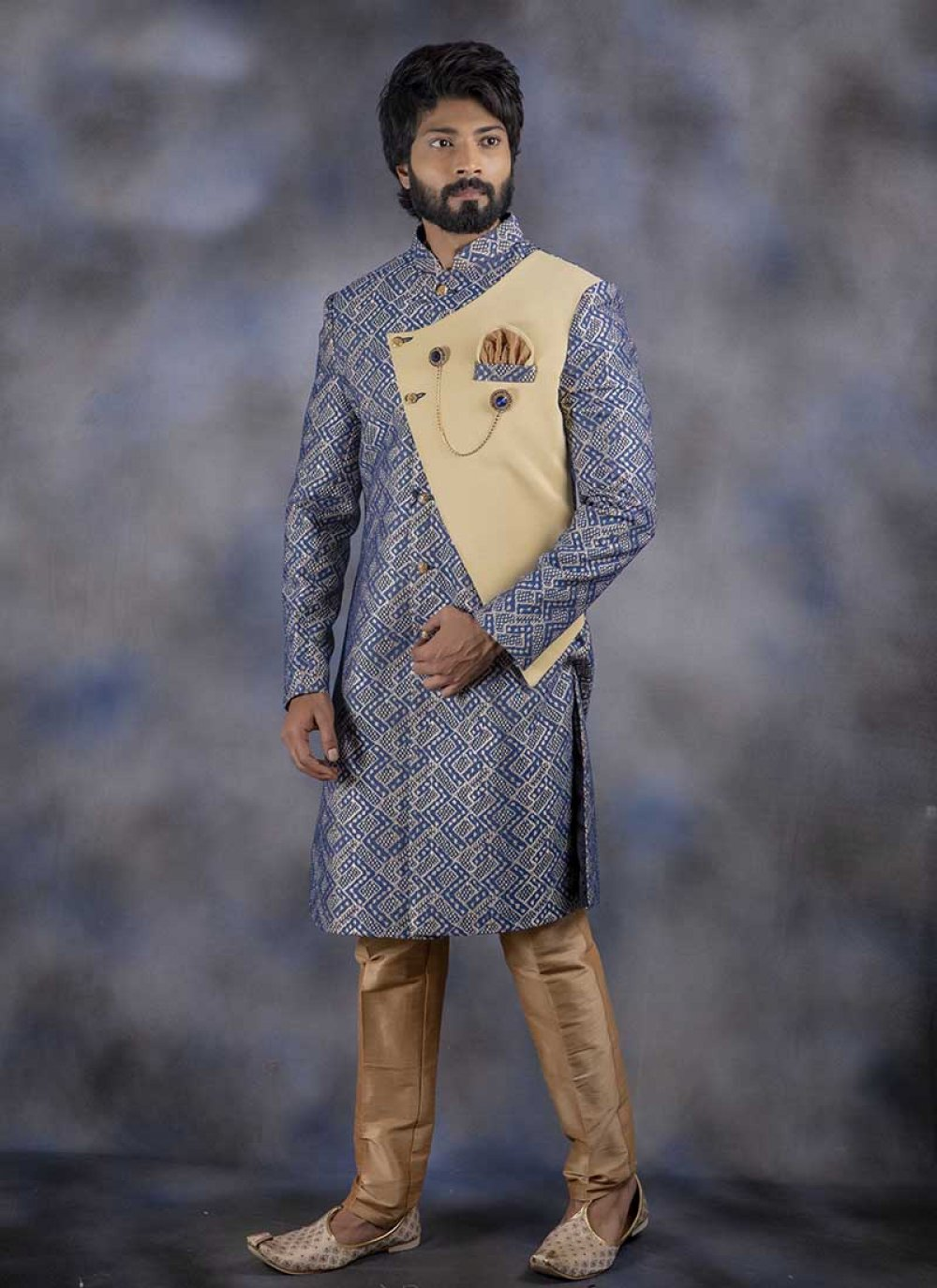 Jacquard Indo Western in Blue