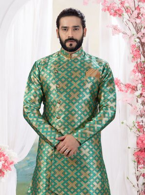 Jacquard Indo Western in Gold and Green