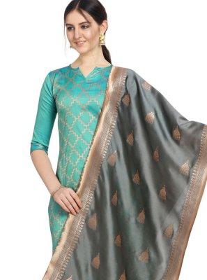 Jacquard Mehndi Salwar Suit