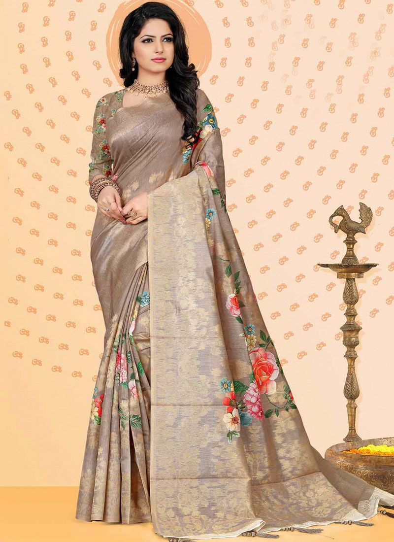Jacquard Multi Colour Designer Traditional Saree