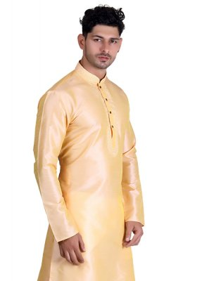 Jacquard Plain Cream Kurta