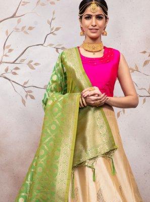 Jacquard Reception Designer Lehenga Choli
