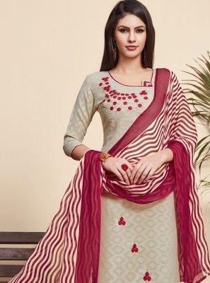 Jacquard Salwar Suit
