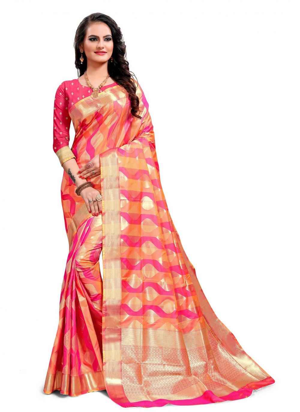 Jacquard Silk Multi Colour Classic Saree