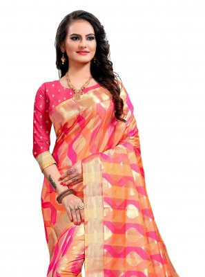 Jacquard Silk Multi Colour Classic Saree