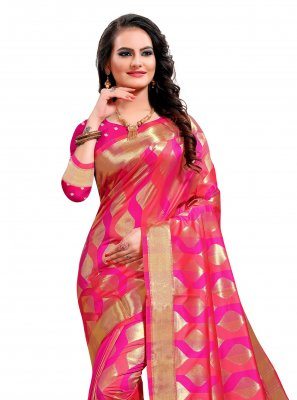 Jacquard Silk Multi Colour Weaving Classic Saree