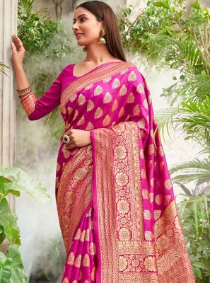 Jacquard Silk Weaving Designer Saree