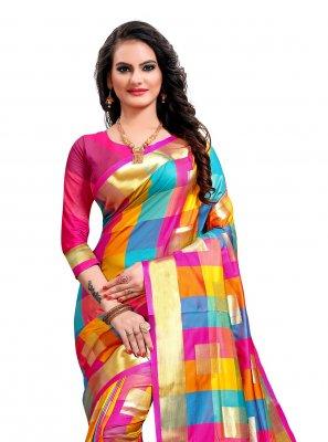 Jacquard Silk Weaving Multi Colour Classic Saree