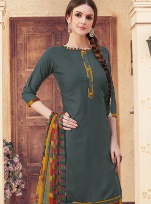 Jacquard Teal Patiala Suit