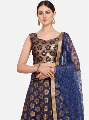 Jacquard Trendy Lehenga Choli in Blue